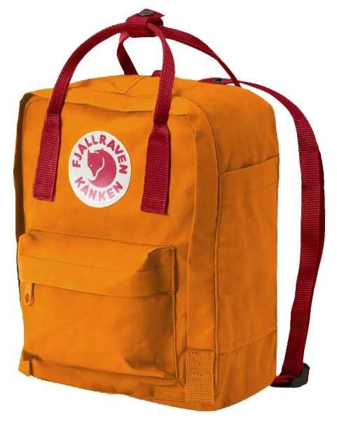 fjallraven kanken rucksack mini gelb rot