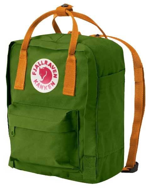 fjallraven kanken rucksack mini grün gelb